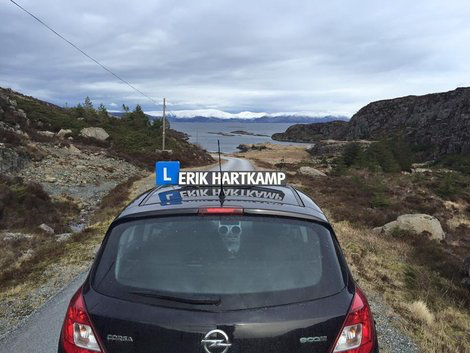 Rijles Barneveld in Noorwegen. Autorijles in de winter in Noorwegen.