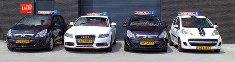 Barneveld Rijschool Erik Hartkamp. Lesauto's  in 2012. Autorijschool Barneveld. Rijles in Barneveld, Voorthuizen en omgeving.