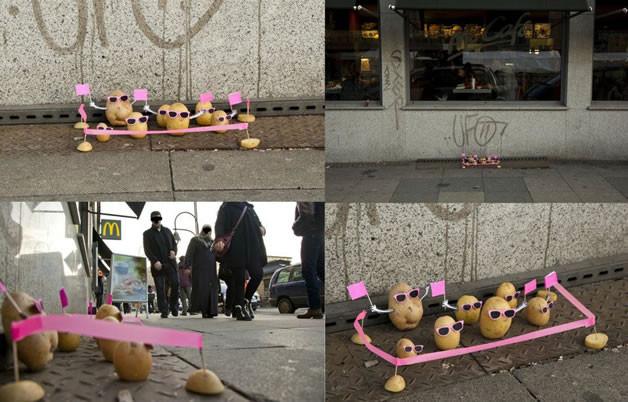 Manif des patates. Trouvé sur le site http://designspartan.com/