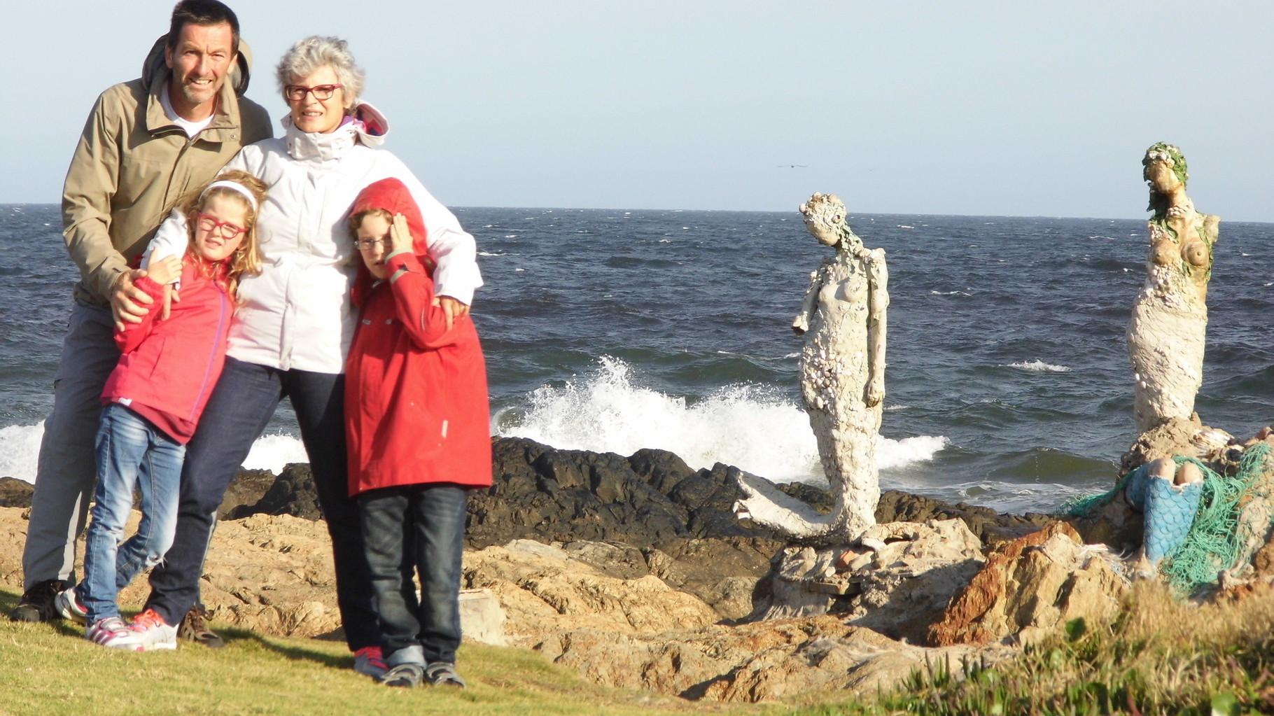 Les sirènes marquent la ligne de partage des eaux entre le Rio de la Plata et l'Océan Atlantique