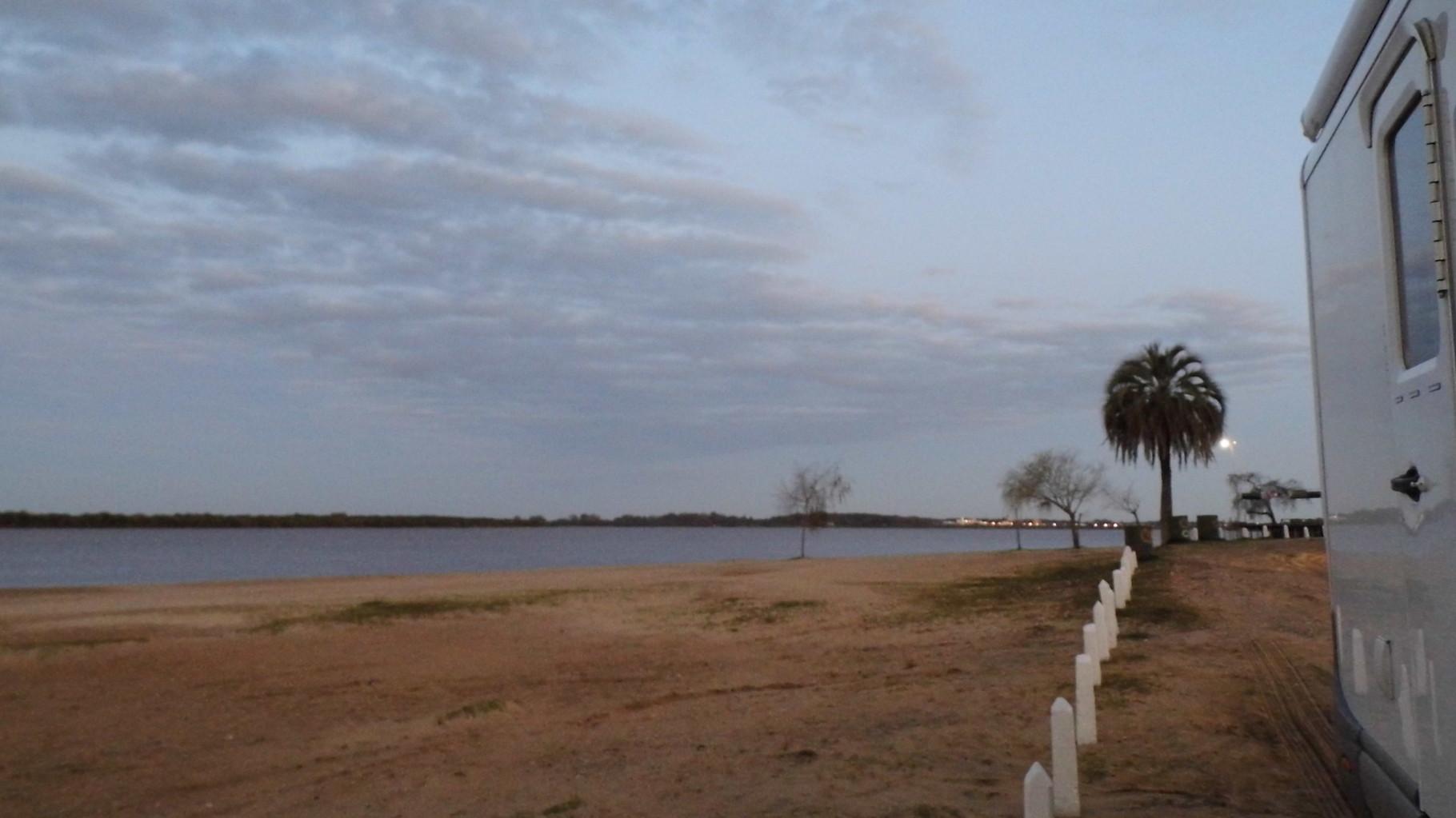 La plage du Rio Uruguay côté Argentin