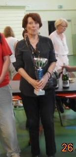 Claudie qui représente le club Paris Denfert - vainqueur de la coupe Ackerman