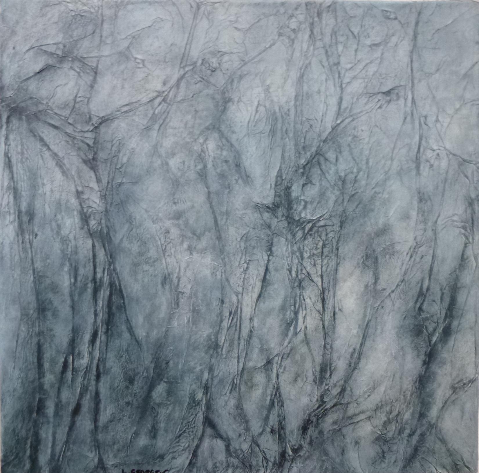 RAMAGES,  techniques mixtes sur toile, 40x40cm