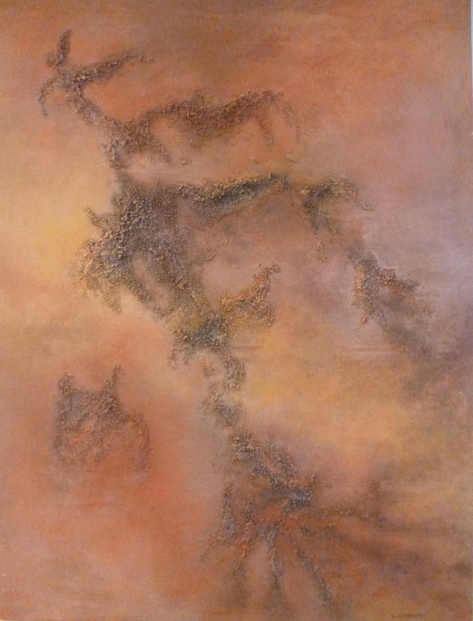 EMPREINTES 2,  techniques mixtes sur toile, 65x50cm