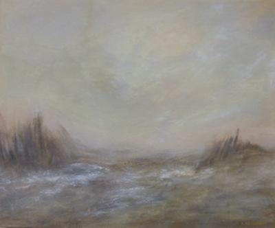 AUBE, acrylique sur toile, 46x55 cm