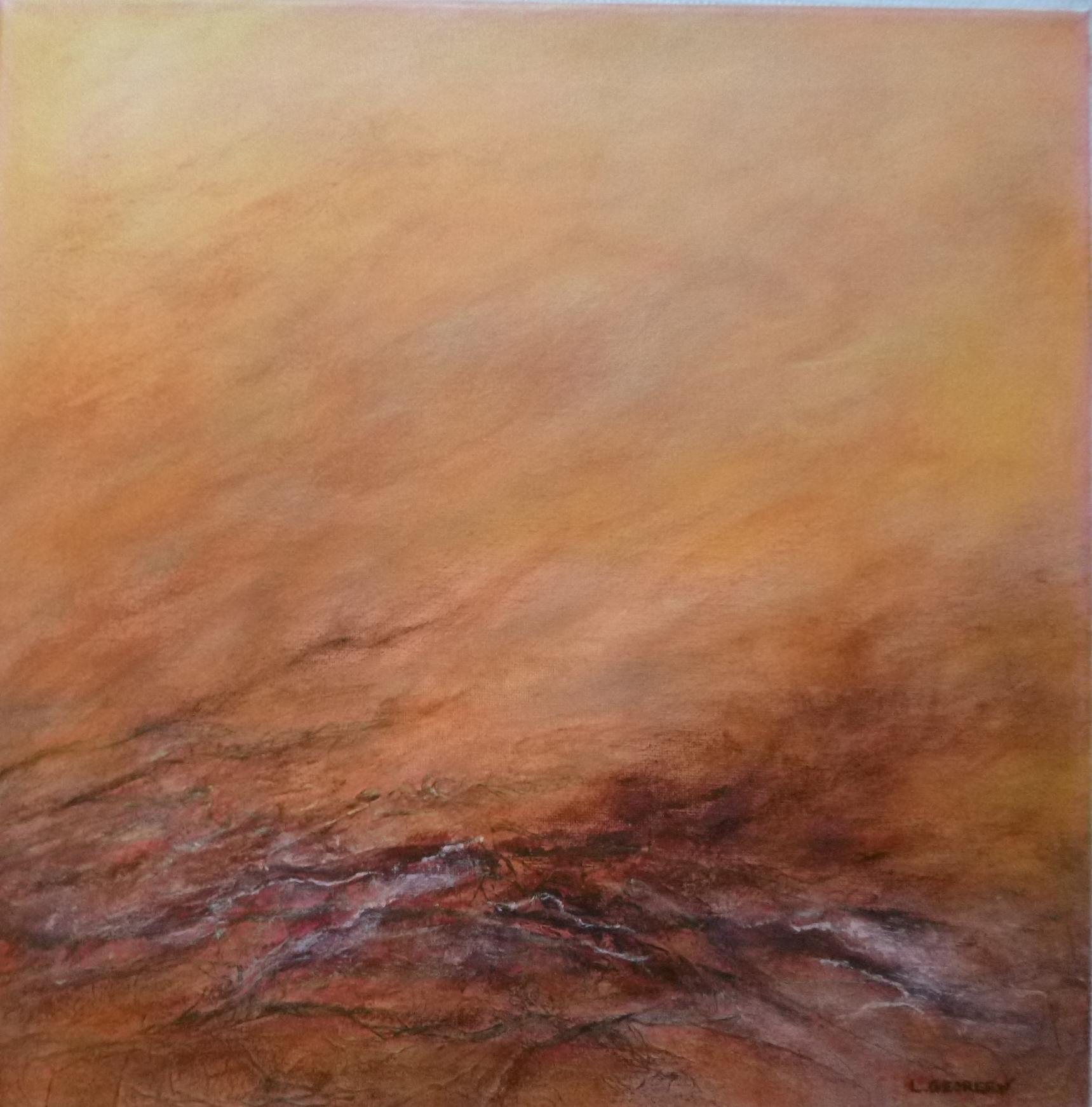 RHIZOMES, acrylique sur toile, 40x40 cm