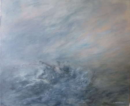 HOULE, acrylique sur toile, 46x55 cm