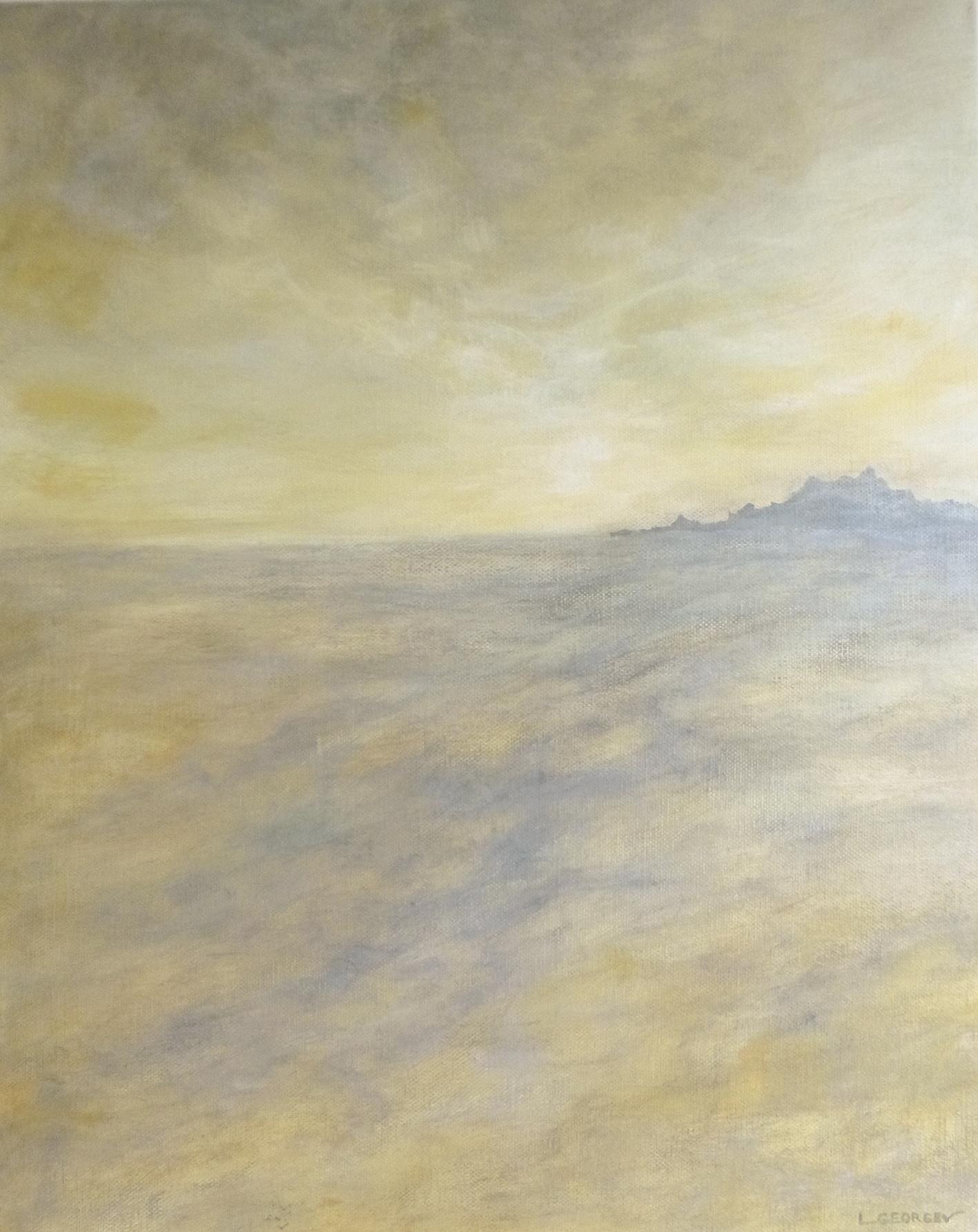 LOINTAIN, acrylique sur toile, 50x40 cm