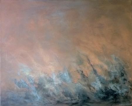 JAILLISSEMENT, acrylique sur toile, 40x50 cm