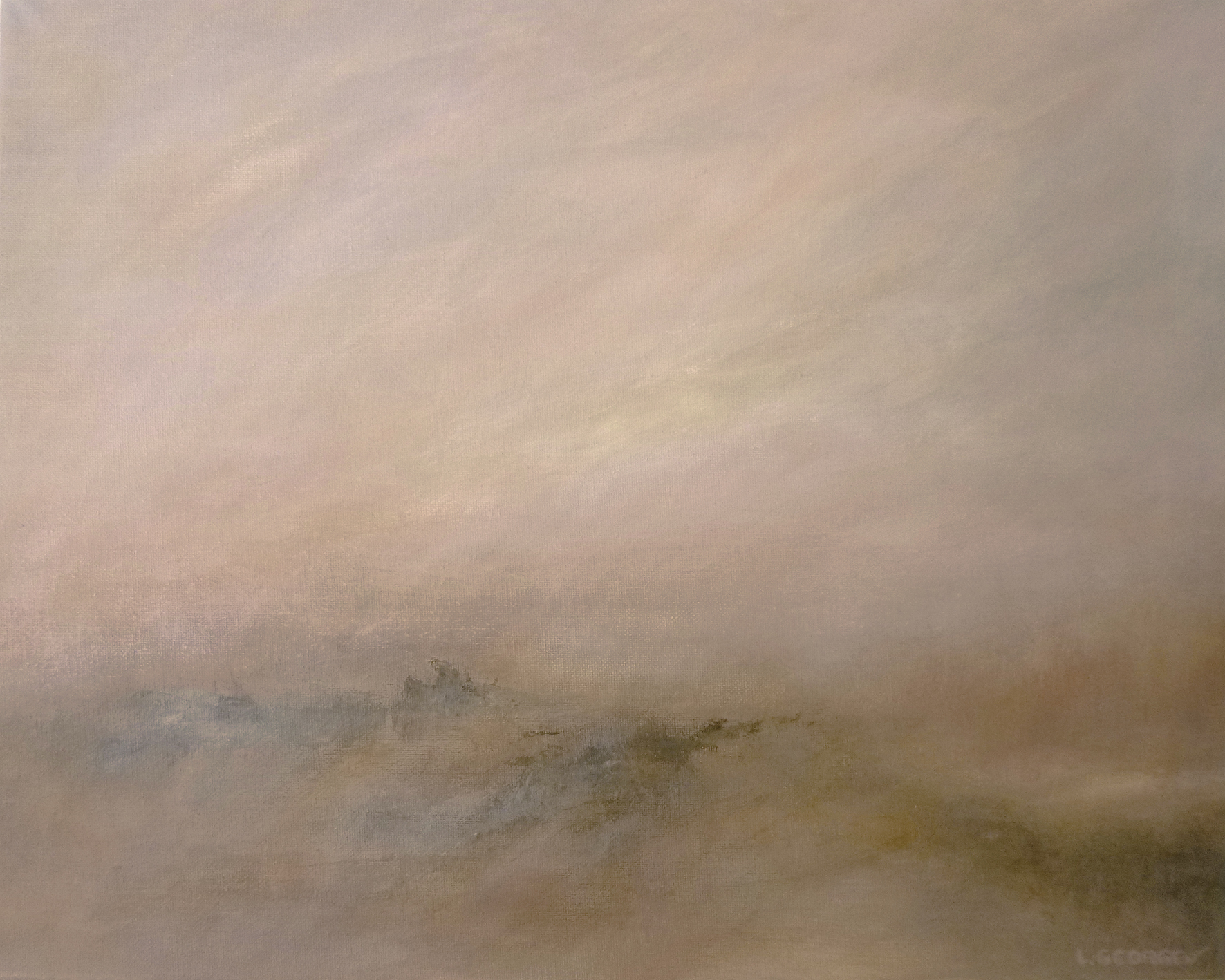 RÊVERIE, acrylique sur toile, 40x50 cm