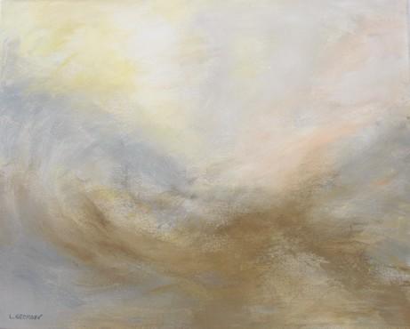 ÉCUME, acrylique sur toile, 40x50 cm