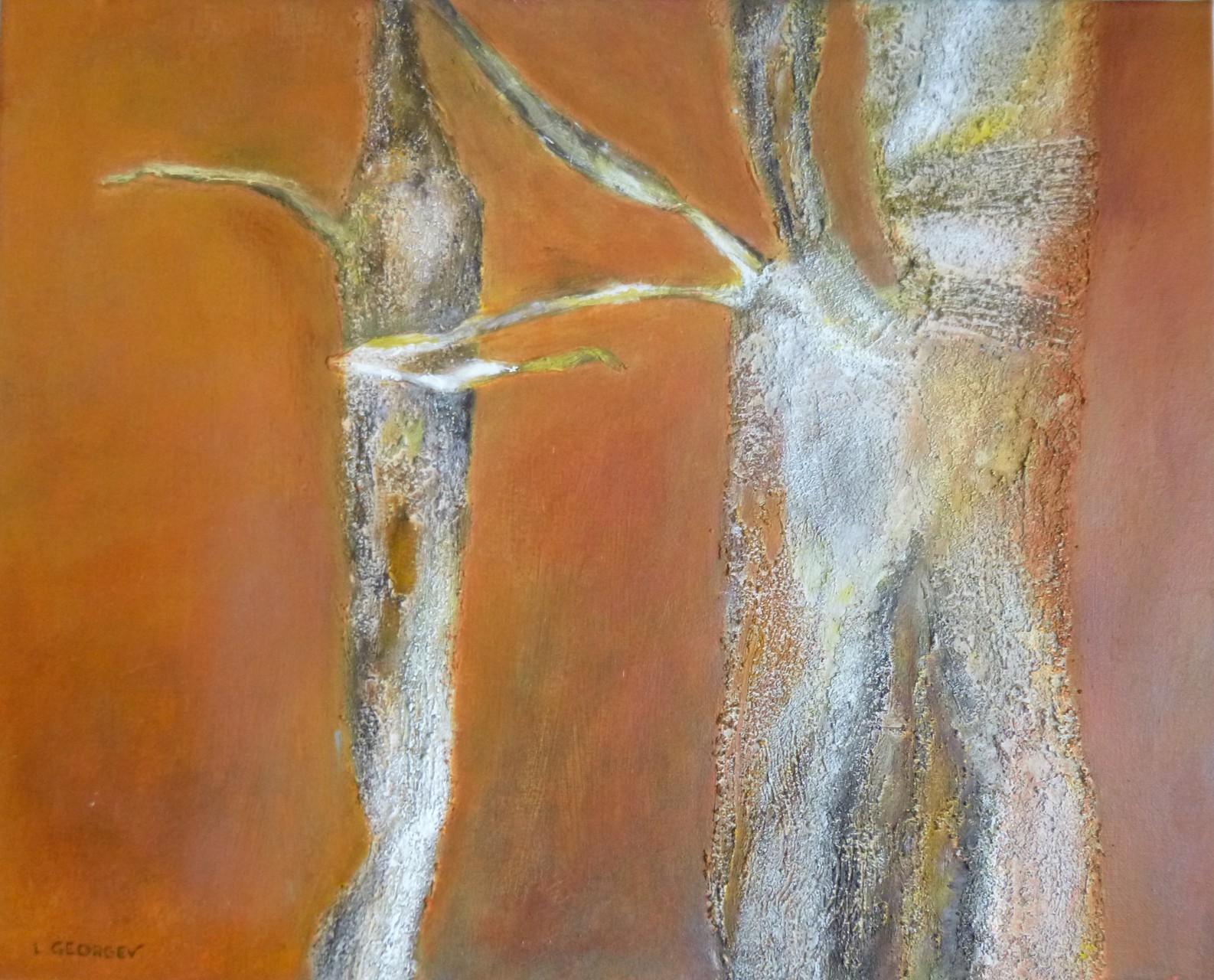 CHRYSALIDES, techniques mixtes sur toile, 40x50cm