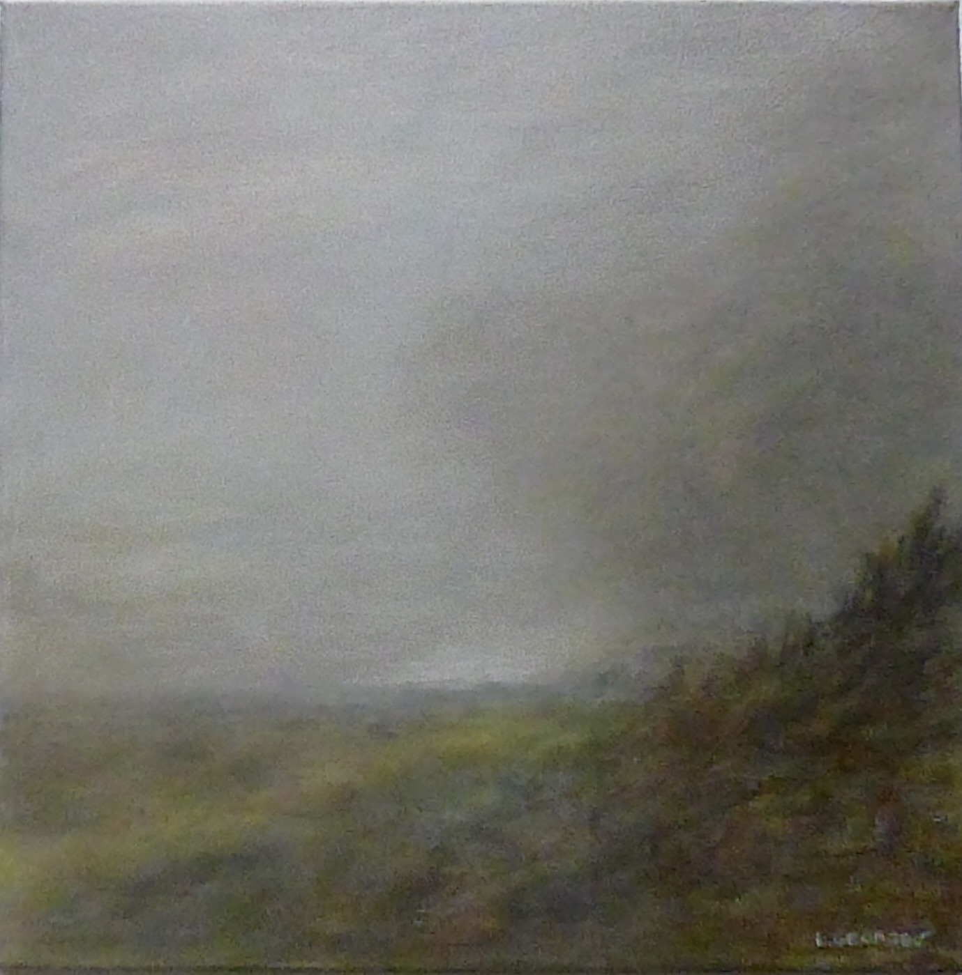 LUEUR, acrylique sur toile, 40x40 cm