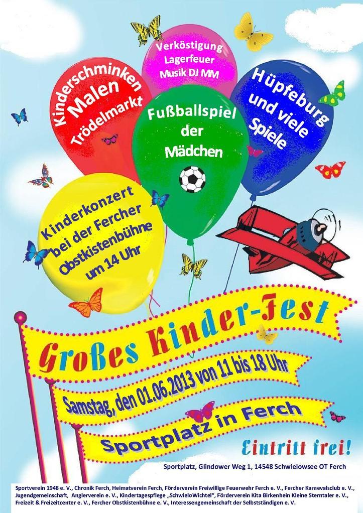 Plakat Kinderfest 2013