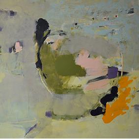 """""""Makrokosmos"""", 2014, 80 x 80 cm, Acryl auf Leinwand"""