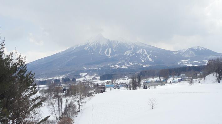 10.  二ツ森山(204m)山頂から青森スプリング・ゲレンデが臨まれる