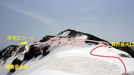 山頂から先はパノラマが広がる楽々コース