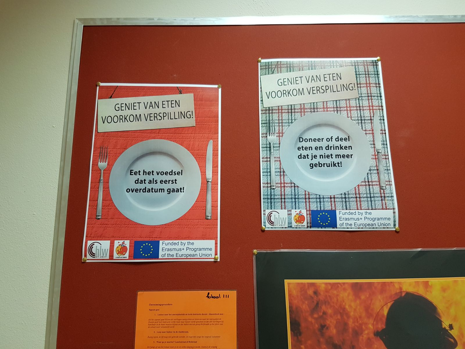 """Stop Food Waste!"" Posters at Regius College"