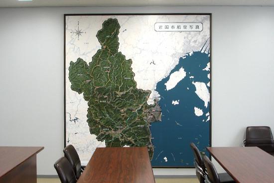 岩国市航空写真地図パネル