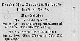 Source: Wochenblatt for the Province of  Fulda, p. 158