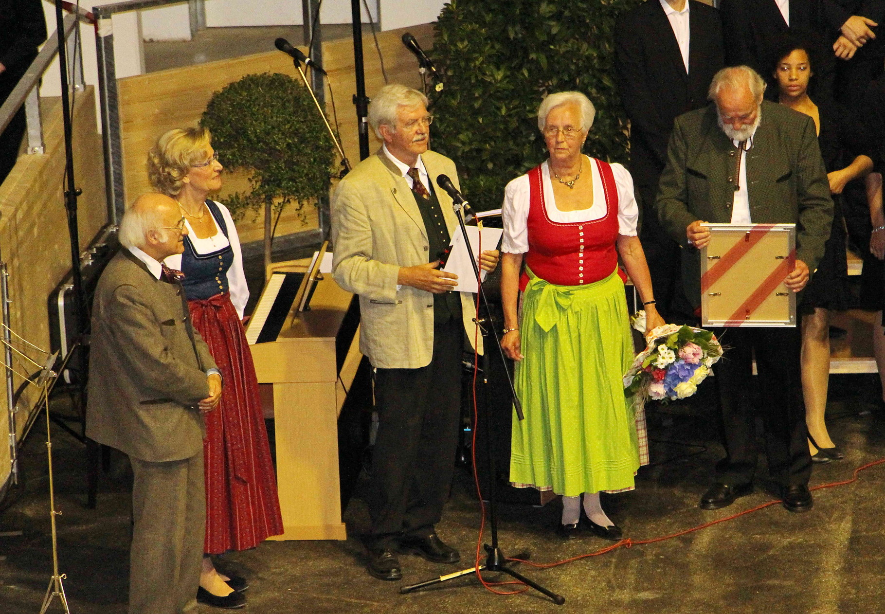 Sixtus Lampl, Heide Hauser, Karl B. Kögl, Christl Kamseder und Rudolf Sommer