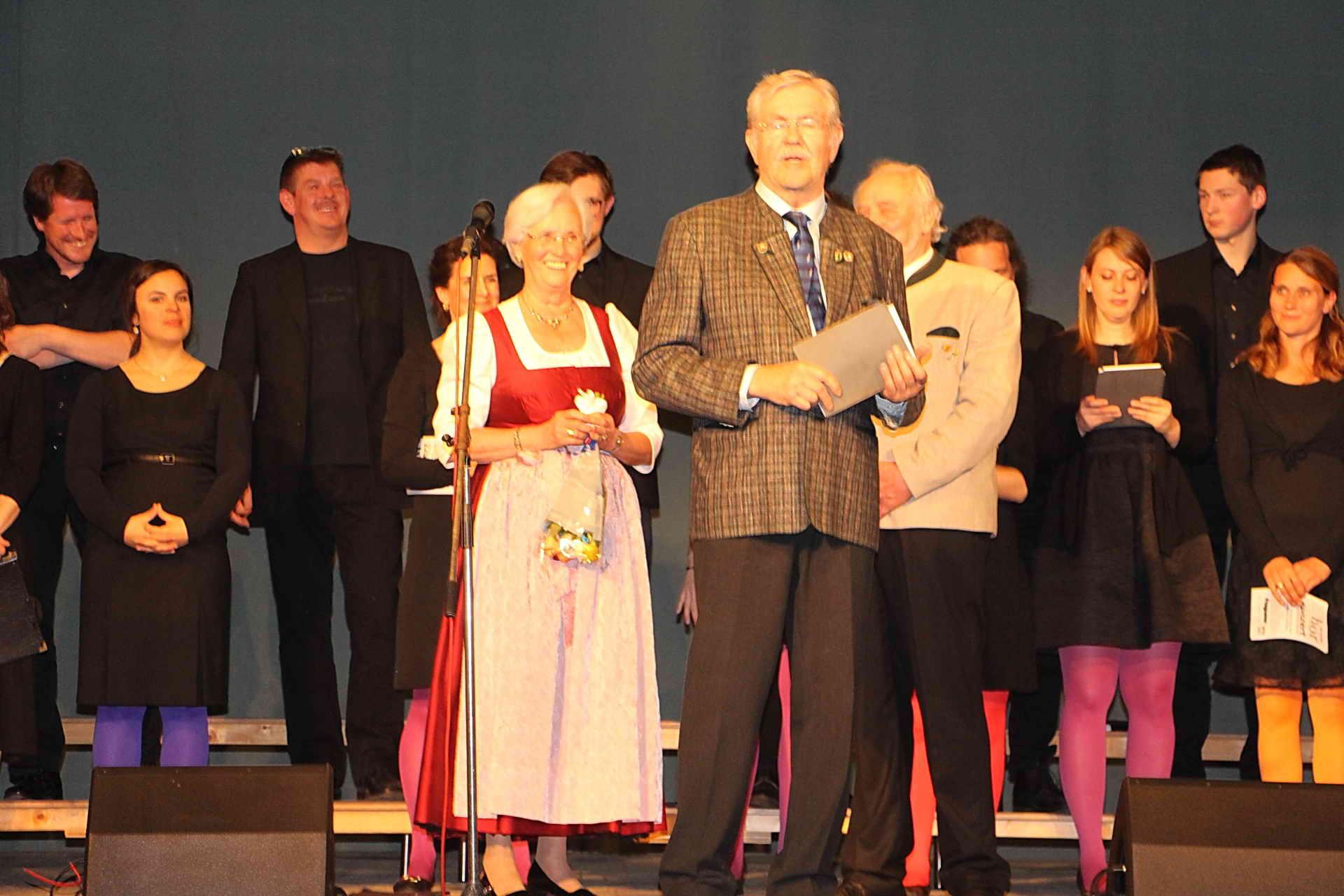 Vorstand ChorVerband Oberland (Christl Kamseder, Karl B. Kögl, Rudi Sommer)