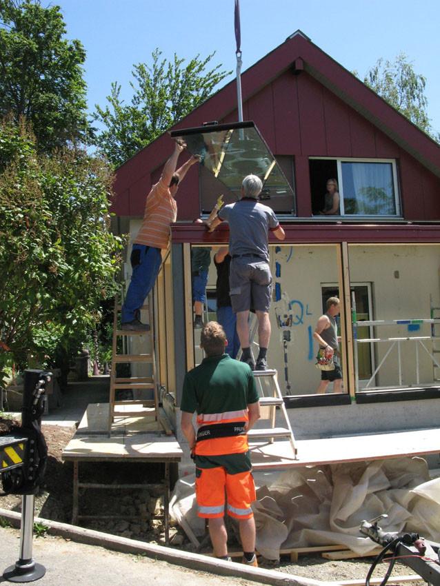 Einbau Dachglas