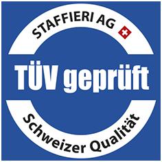 Staffieri Cheminee Kamin TÜV geprüft Siegel schweizer Qualität