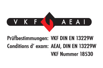 Staffieri Cheminee Kamin VKF AEAI Prüfungsbestimmung VKF DIN EN 13229W