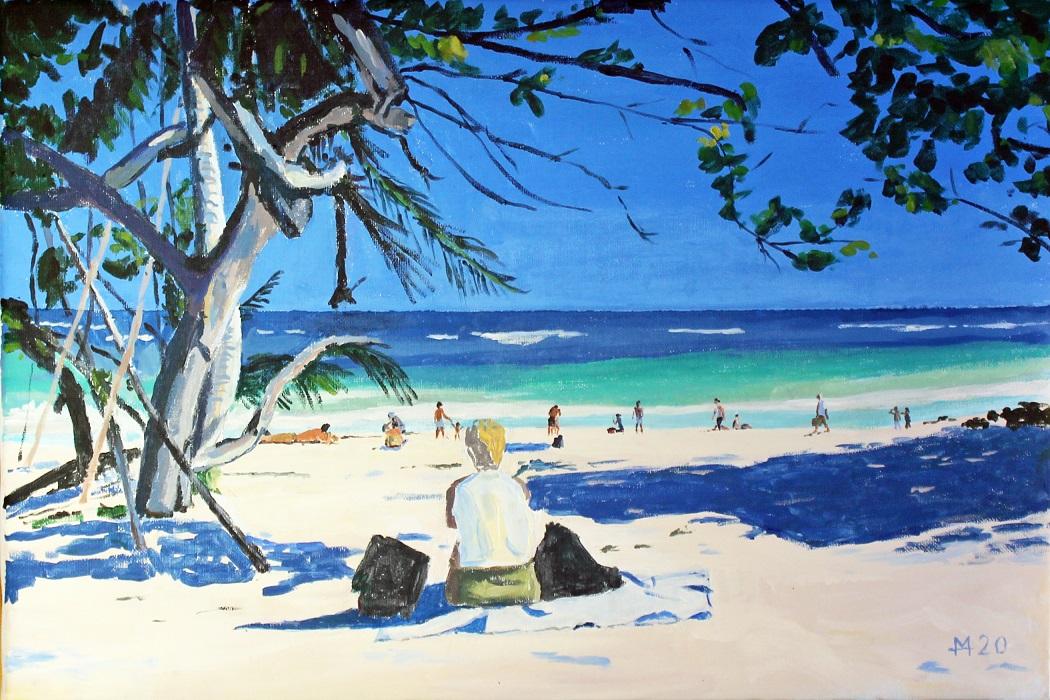 Strandbild bei Cancun auf Yucatan, Mexico