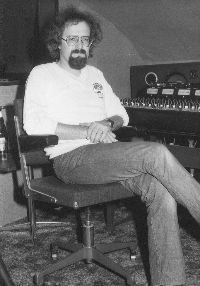 Der Autor im Rockpoint Studio 1979