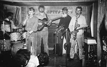 Spitfires Nachfolgeband 1967.  Erwin Schmidt, Peter Baumbach, Wolfgang Papendick, Tony Schäfer, Reinhold Lotz