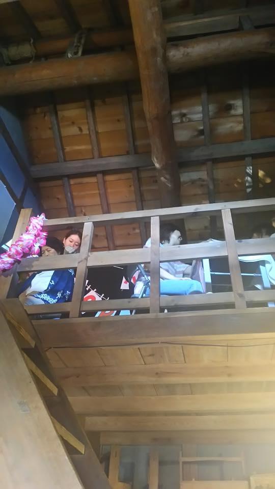 癒しのボディケアブースは蔵の二階にあります。