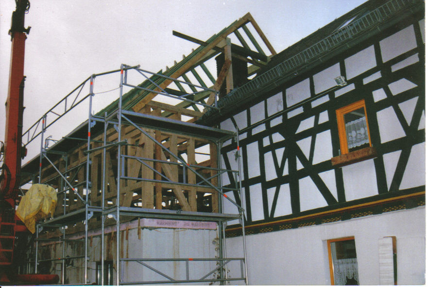 Der hintere Teil des Wohnhauses wurde komplett erneuert