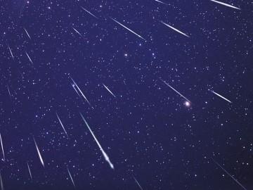 Pluie d'étoiles filantes. Crédits : Ciel & Espace Photos