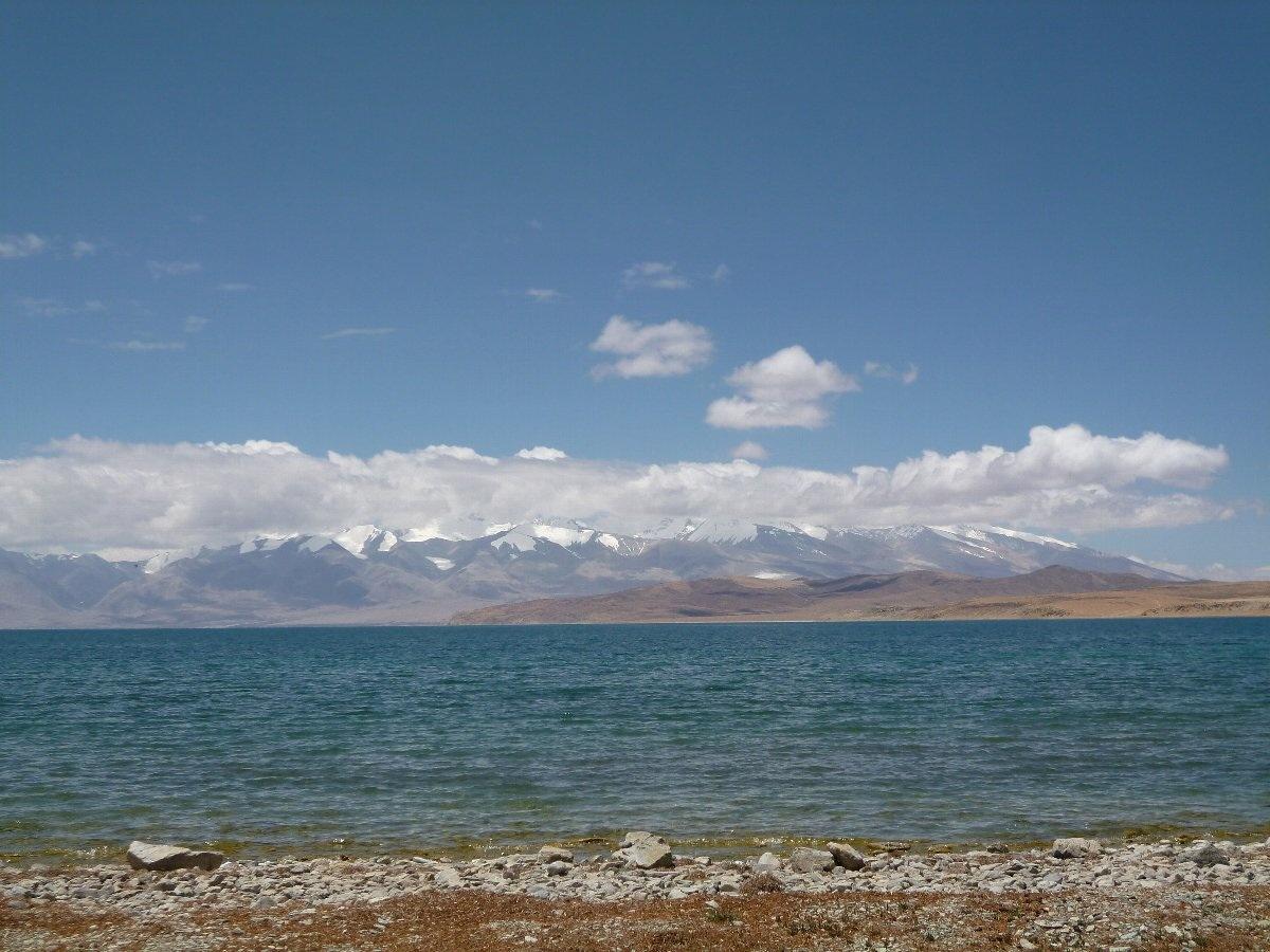 チベット マナサロワール湖の朝
