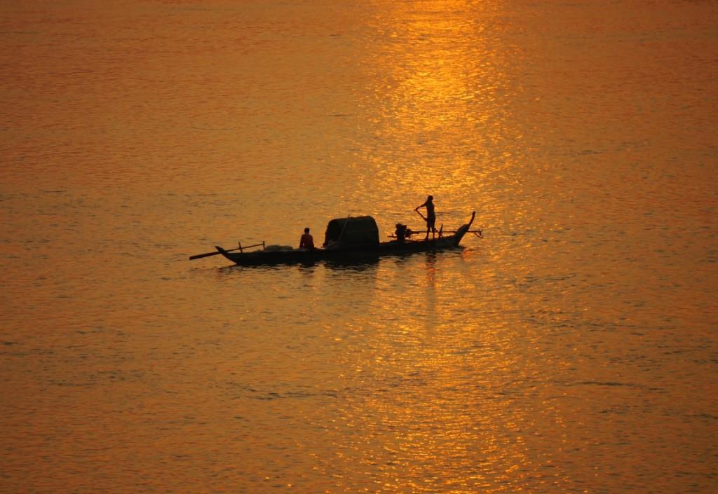 Sonnenuntergang überm Mekong