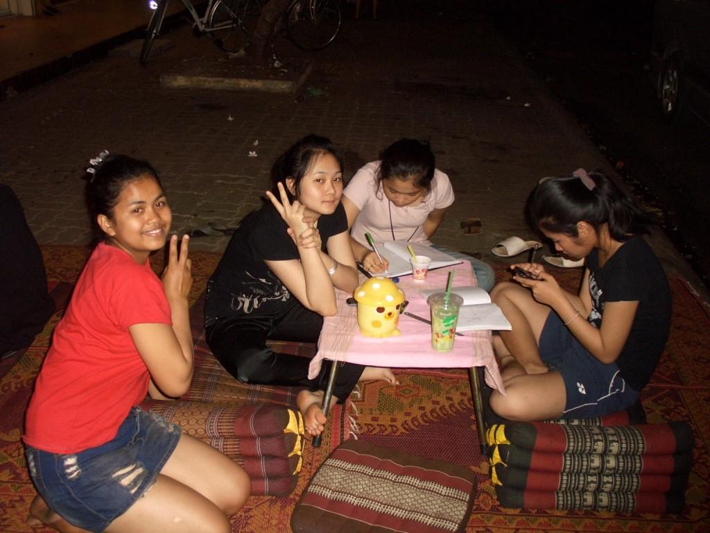 Junge Damen in Laos