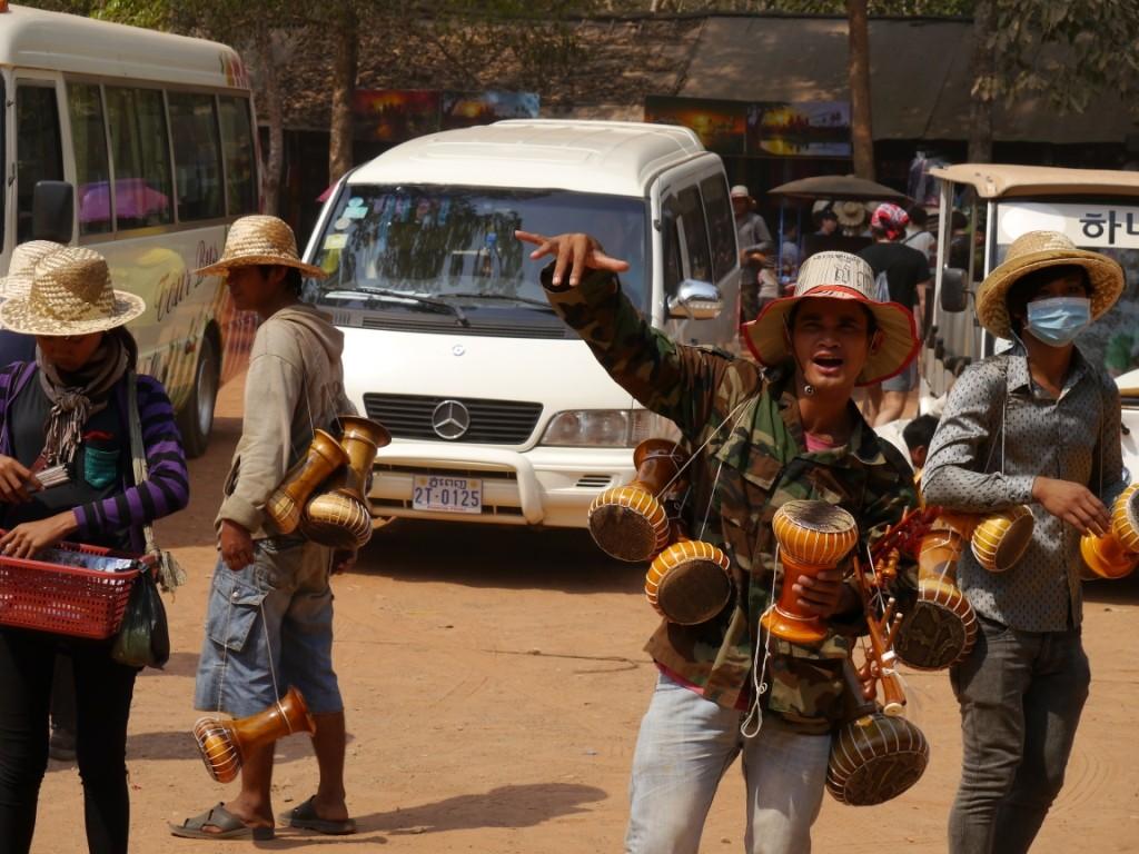 Händler in Angkor Wat