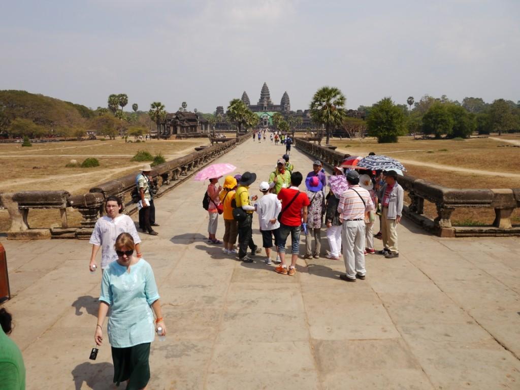Blick auf Tempelanlage