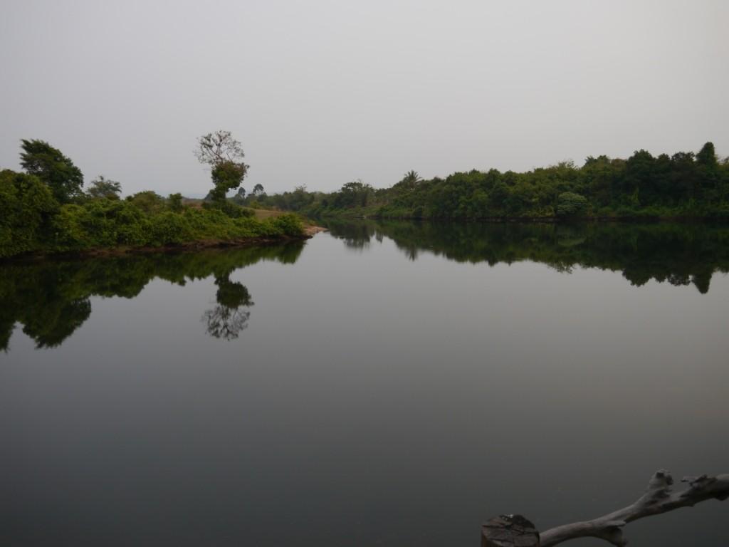 Blick zum River von unserer Hütte