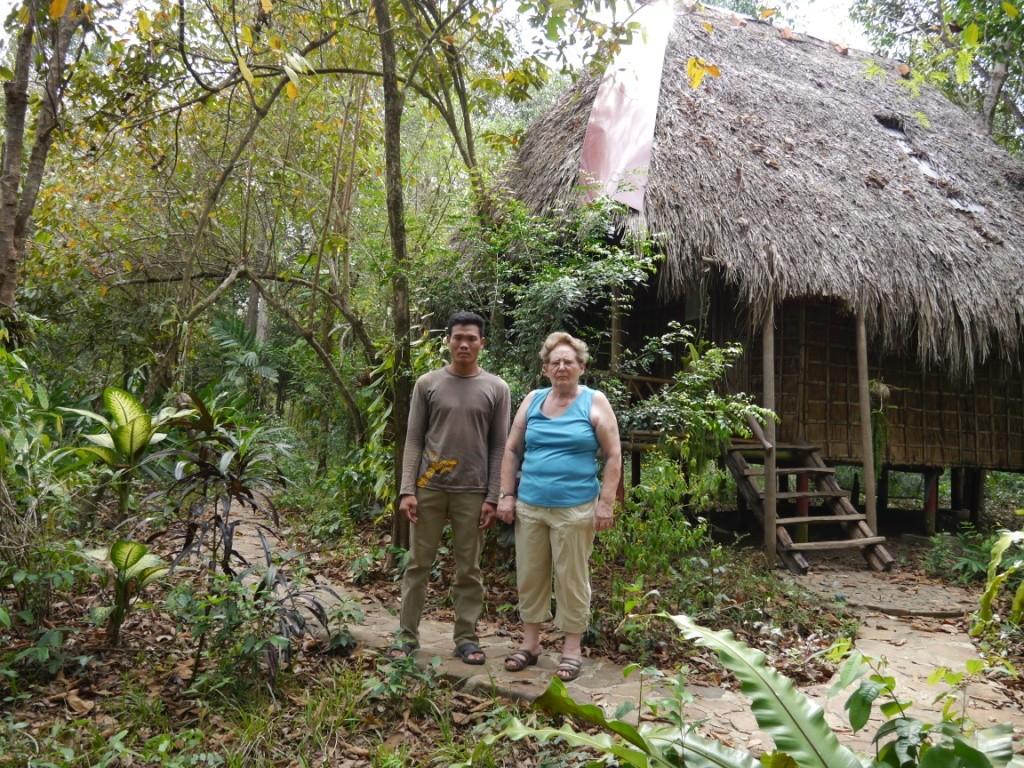 Unsere Hütte am River und Quartier meiner Frau