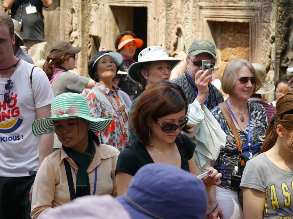 Touristen geben sich die Ehre
