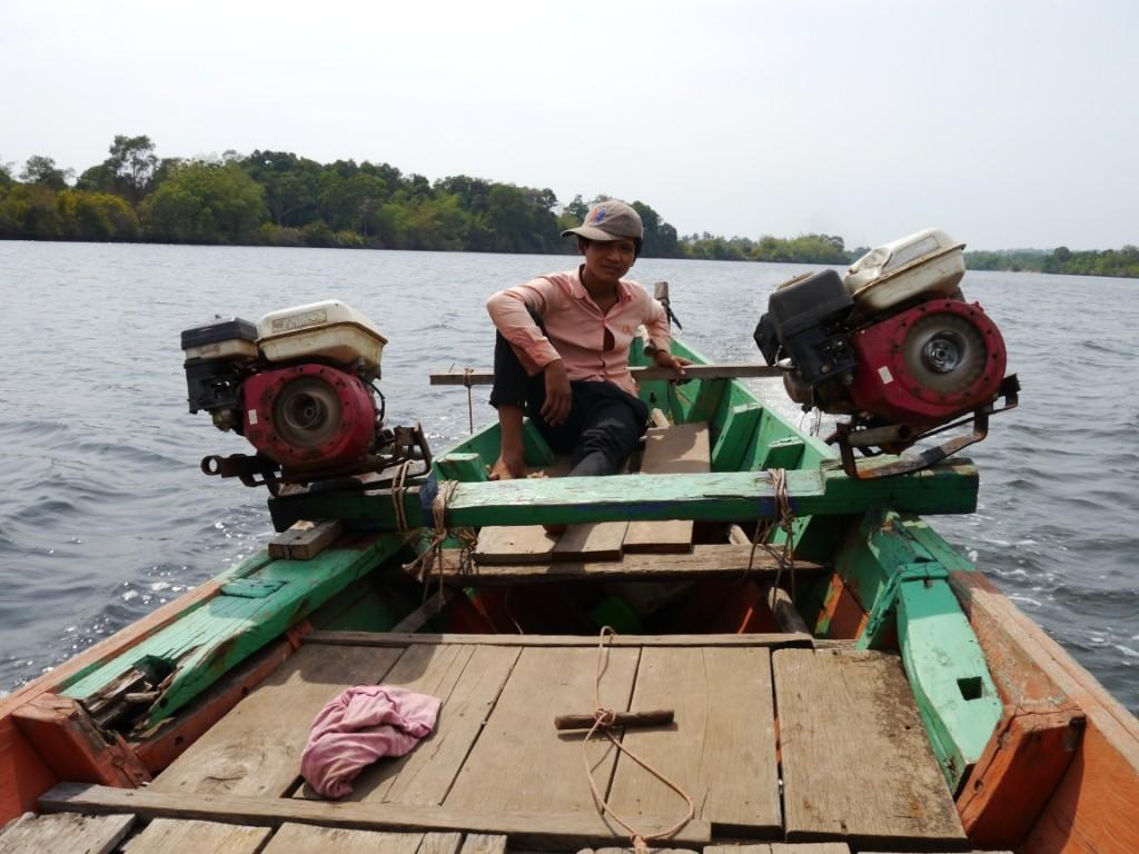 Unser junger Bootsführer
