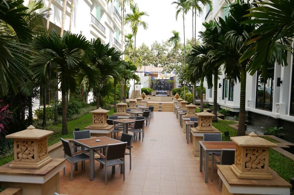 Innen Hotelgarten Siem Reap