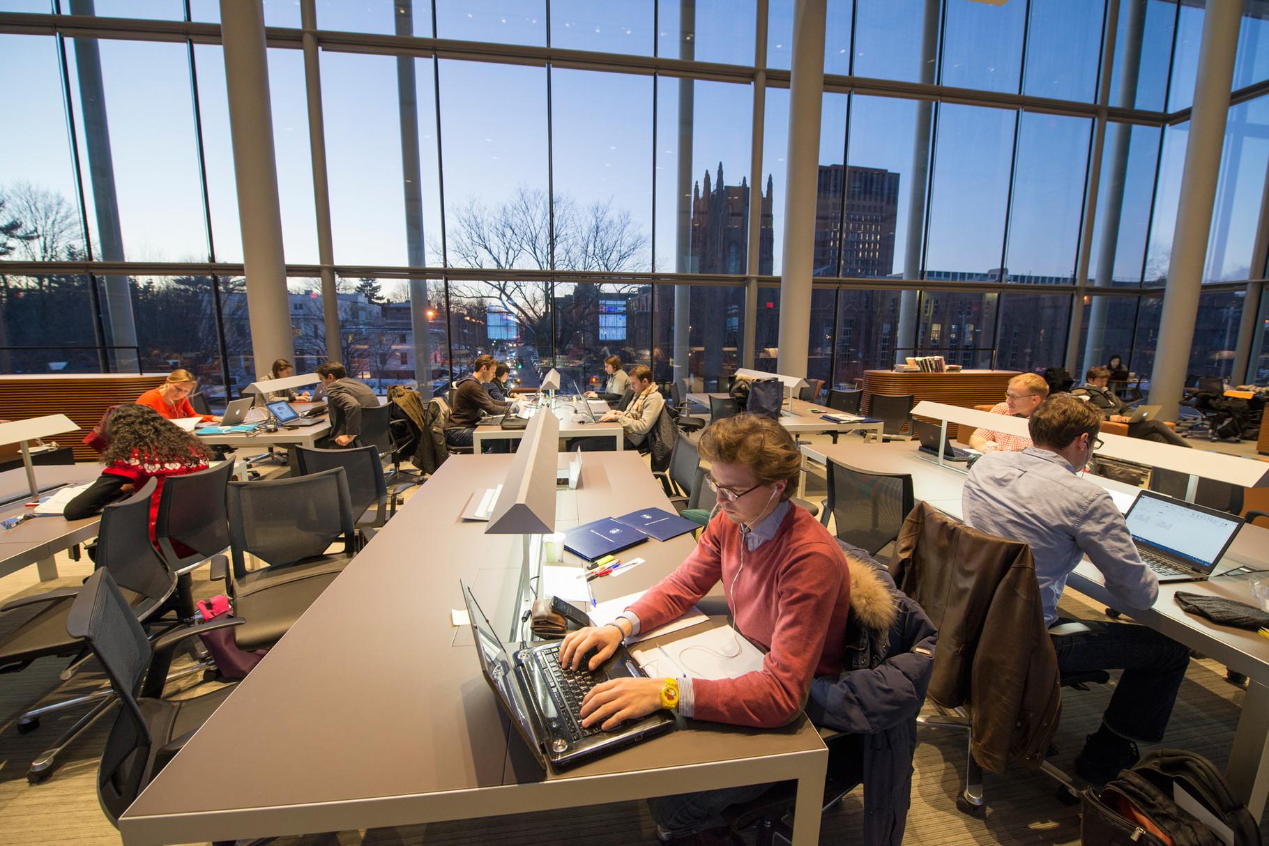 Yale SOMの自習スペース