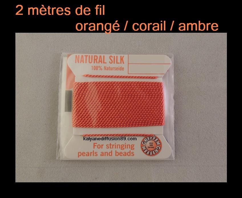 Rose clair soie String Thread 0.50 mm pour Enfilage Perles /& perles Griffin taille 3
