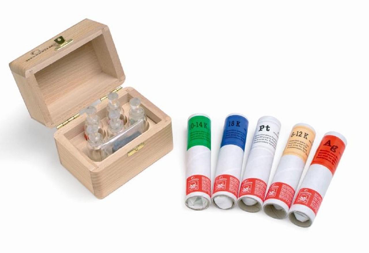Kit Testeur D/'or Acide Argent Or Platine Coffret Pierre Touche Bijoux Loupe