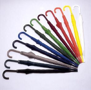Paraplu's beschibaar in een zeer breed gamma kleuren