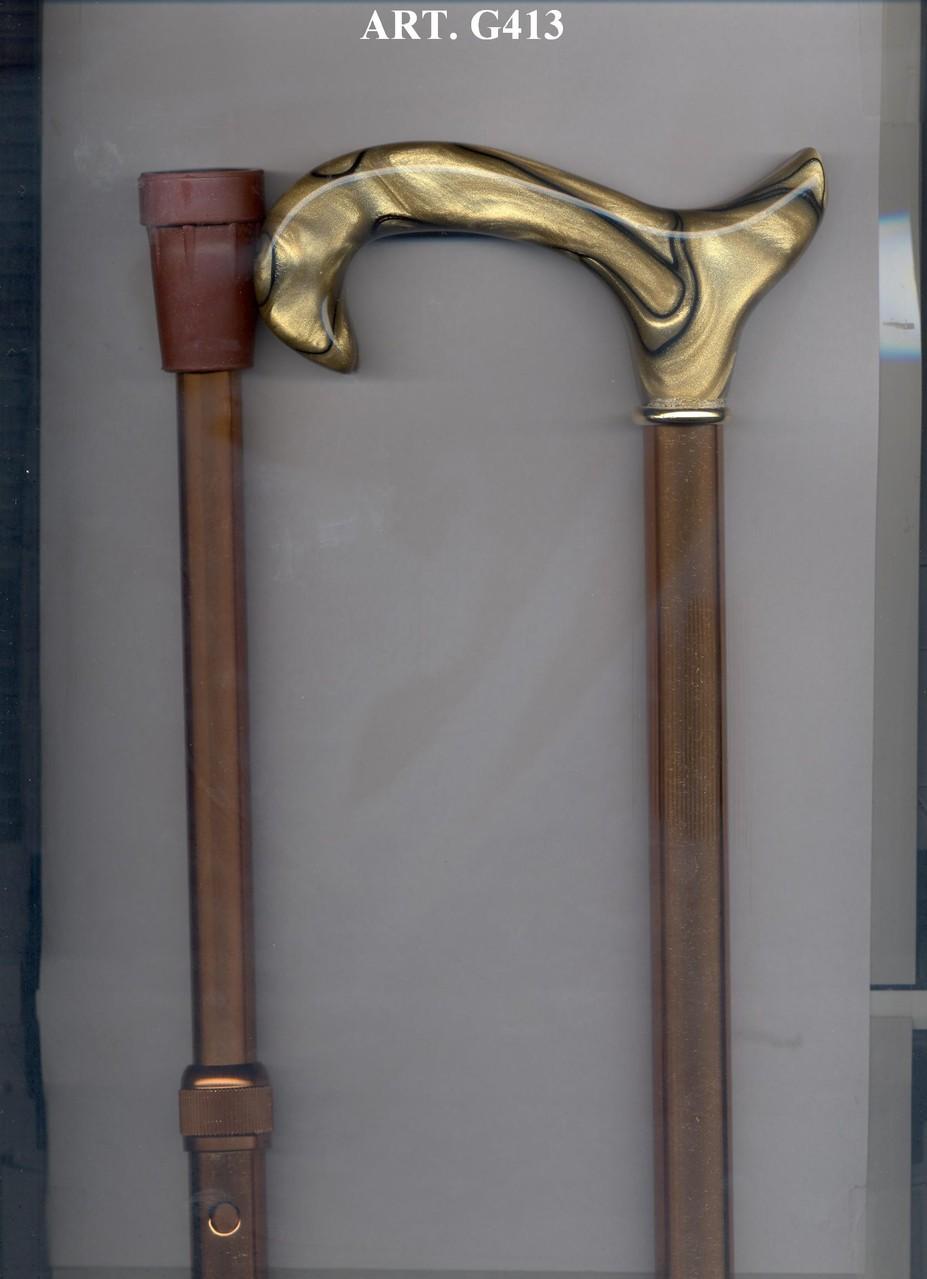 G413 Steunstok teleskopisch alu beige en beige handvat